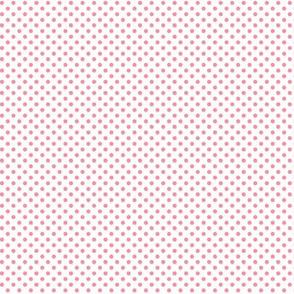 mini polka dots pretty pink and white
