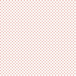 mini polka dots peach