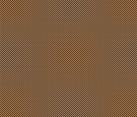 mini polka dots 2 brown and white fabric by misstiina on Spoonflower - custom fabric