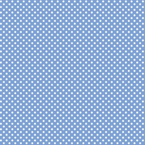 mini polka dots 2 cornflower blue and white