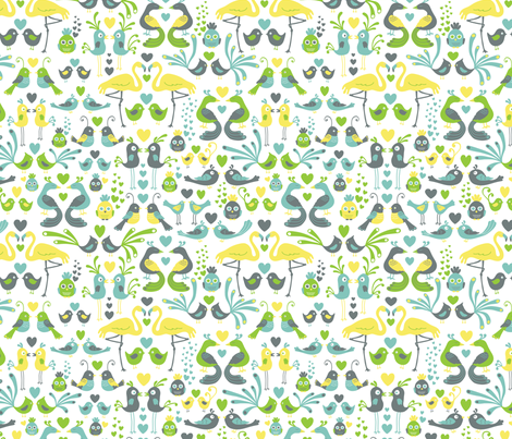 Love_Birds_-_Spoonflower fabric by anderson_lee on Spoonflower - custom fabric