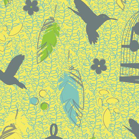Hummingbird Heaven fabric by rosiesimons on Spoonflower - custom fabric