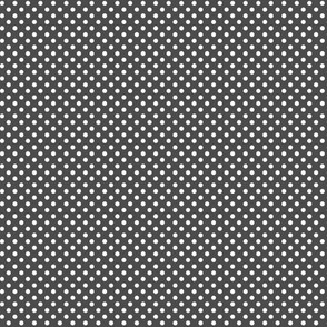 mini polka dots 2 dark grey and white