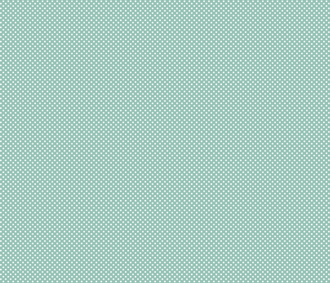 mini polka dots 2 faded teal and white fabric by misstiina on Spoonflower - custom fabric