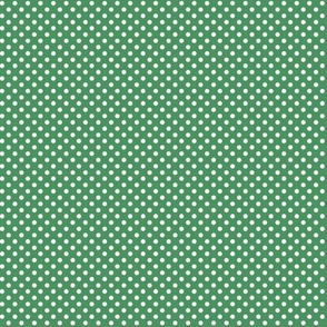 mini polka dots 2 green and white