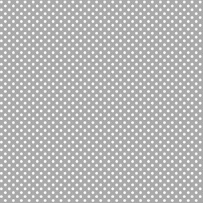 mini polka dots 2 grey and white