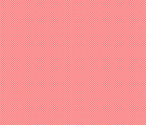 mini polka dots 2 coral and white fabric by misstiina on Spoonflower - custom fabric