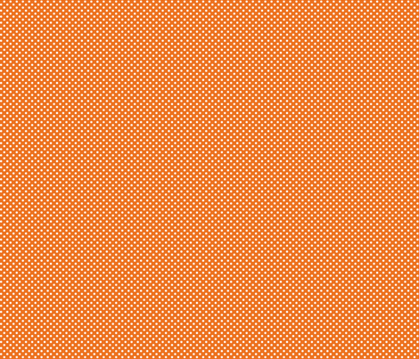 mini polka dots 2 orange and white fabric by misstiina on Spoonflower - custom fabric