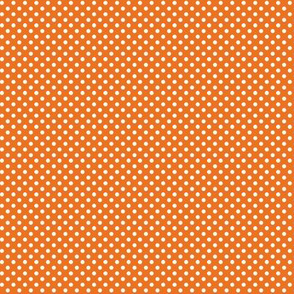 mini polka dots 2 orange and white