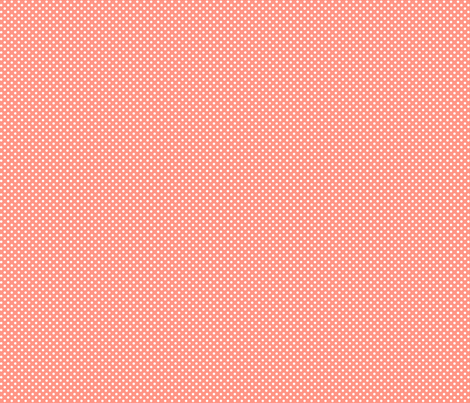 mini polka dots 2 peach fabric by misstiina on Spoonflower - custom fabric