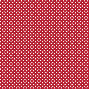 mini polka dots 2 red and white