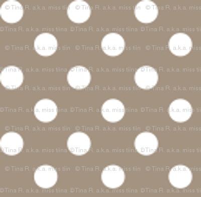 mini polka dots 2 tan and white