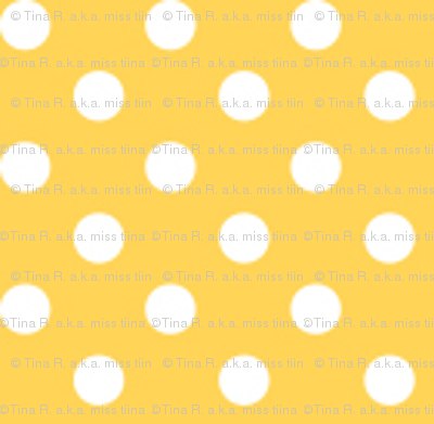 mini polka dots 2 yellow and white