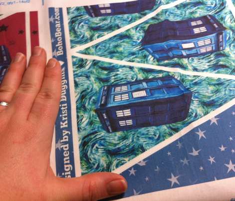Doctor Who Inspired Easy No-Sew Starry Night Pennant Bunting