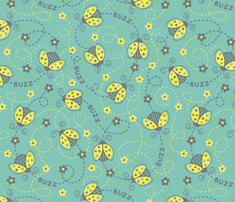 buzzy-bugs fabric by tabula_rosi on Spoonflower - custom fabric
