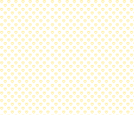 yellow hearts fabric by myracle on Spoonflower - custom fabric