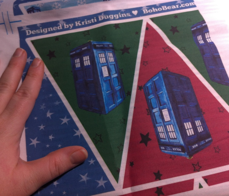 Doctor Who Inspired Christmas TARDIS Easy No-Sew Bunting