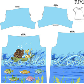 Colourful Under The Sea Design - Riviera Tee 