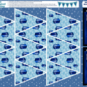 Doctor Who Inspired Snowflake Bunting DIY Easy No Sew Project