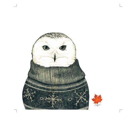 owl_pillow fabric by celestegs on Spoonflower - custom fabric