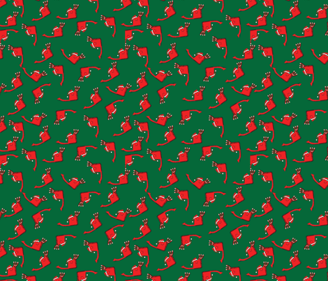 Holiday Devil Green fabric by wendysheridan on Spoonflower - custom fabric