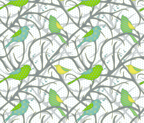 winter sing along fabric by cindi_g on Spoonflower - custom fabric