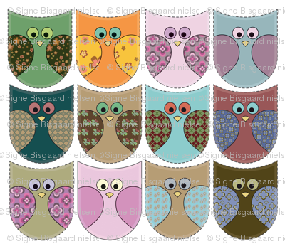 Retro owl fronts
