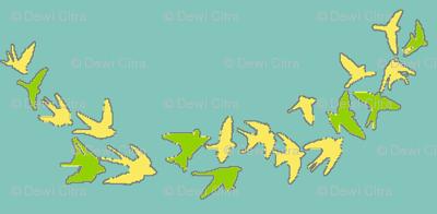 flocks in scallops- light teal