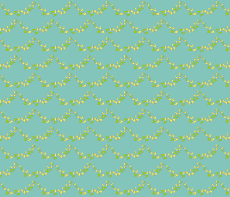 flocks in scallops- light teal fabric by innocentia on Spoonflower - custom fabric