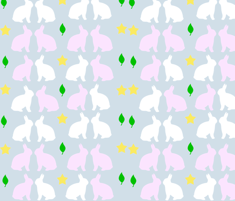 BUNNIES fabric by tulsa_gal on Spoonflower - custom fabric