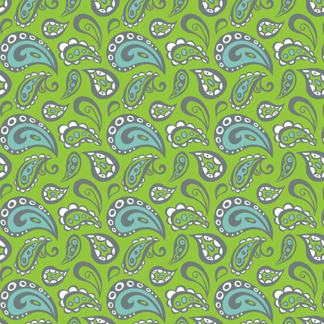 Plumes & Paisleys fabric by heatherdutton on Spoonflower - custom fabric