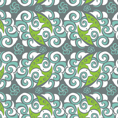 Pretty Pair fabric by heatherdutton on Spoonflower - custom fabric