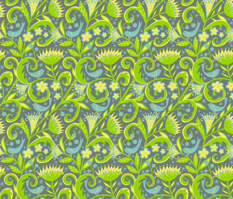 Garden Glory fabric by emilydyerdesign on Spoonflower - custom fabric