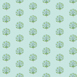 Peafowl Polka-Dot