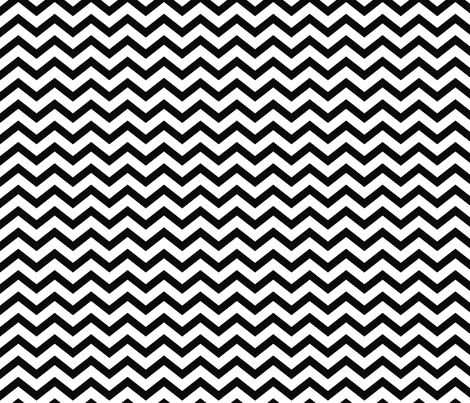 chevron black fabric by misstiina on Spoonflower - custom fabric