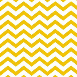 chevron golden yellow and white