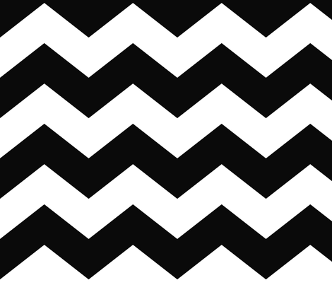 chevron lg black and white fabric by misstiina on Spoonflower - custom fabric