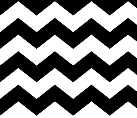 chevron lg black fabric by misstiina on Spoonflower - custom fabric