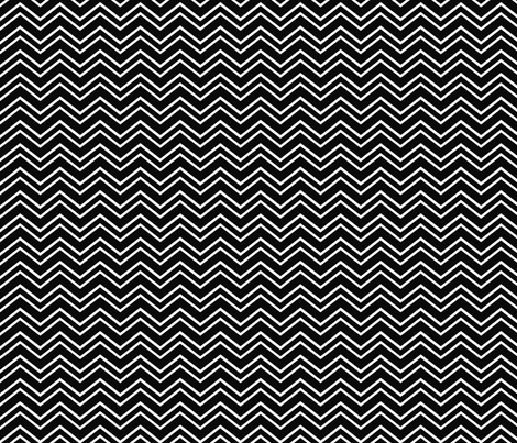 chevron no2 black and white fabric by misstiina on Spoonflower - custom fabric
