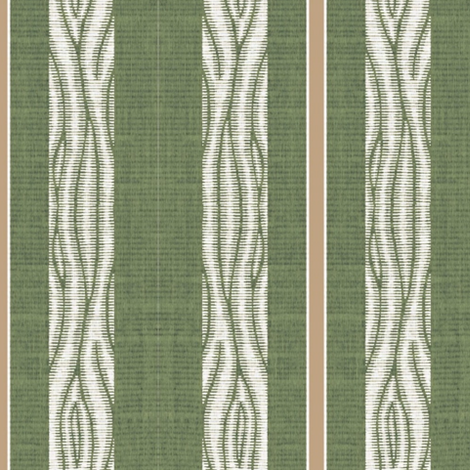 Lawn Chair - Vertical - green & white with brown stripe fabric by materialsgirl on Spoonflower - custom fabric