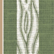 Lawn Chair - Vertical - green & white with brown stripe