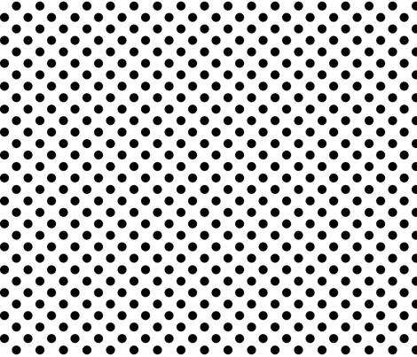 polka dots black fabric by misstiina on Spoonflower - custom fabric