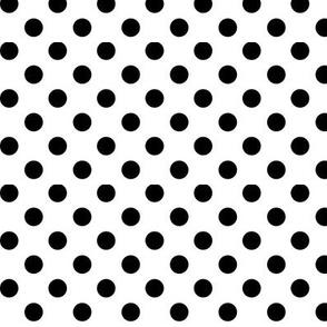 polka dots black