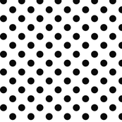 polka dots black and white
