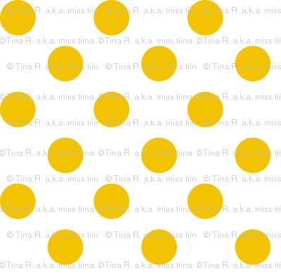 polka dots mustard