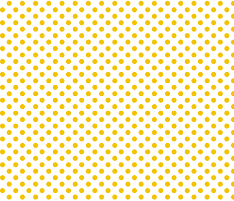 polka dots golden yellow and white fabric by misstiina on Spoonflower - custom fabric