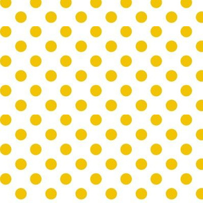 polka dots golden yellow and white