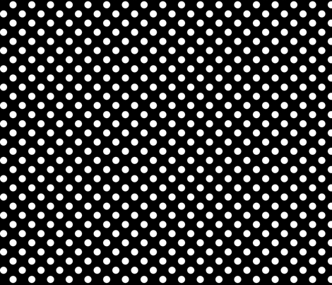 polka dots 2 black fabric by misstiina on Spoonflower - custom fabric