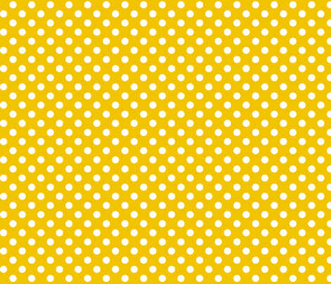 polka dots 2 golden yellow and white