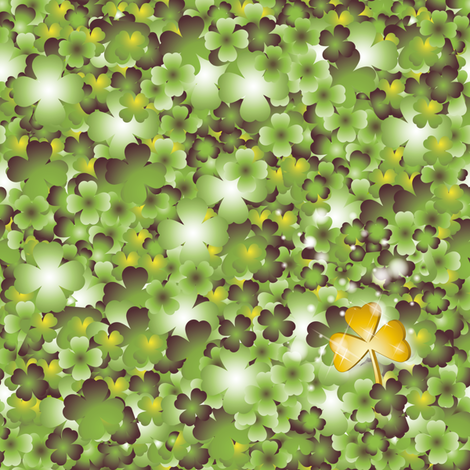 fabric_clovers fabric by vannina on Spoonflower - custom fabric